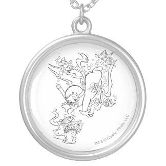 Casper Scuba Diving Silver Plated Necklace