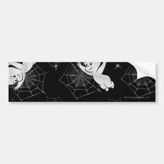 Casper Spider and Webs Pattern Bumper Sticker