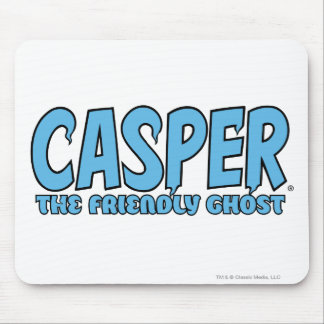 Casper the Friendly Ghost Blue Logo 1 Mouse Pad