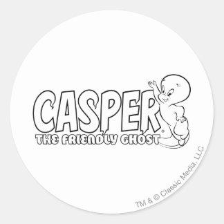 Casper the Friendly Ghost Logo 2 Classic Round Sticker