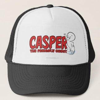 Casper the Friendly Ghost Red Logo 2 Trucker Hat