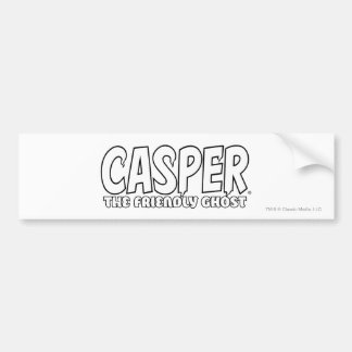 Casper the Friendly Ghost White Logo Bumper Sticker