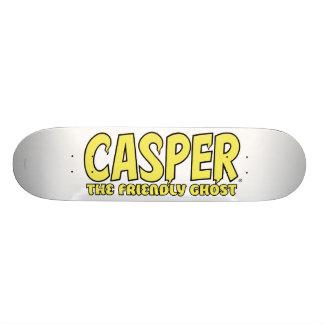 Casper the Friendly Ghost Yellow Logo 21.6 Cm Skateboard Deck
