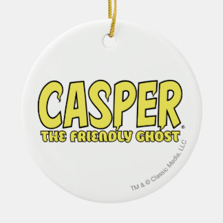 Casper the Friendly Ghost Yellow Logo Round Ceramic Decoration