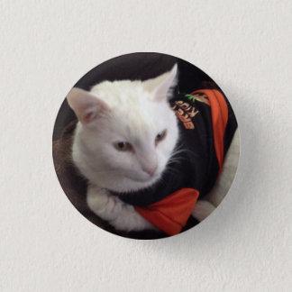 Casper the white cat just chilling 3 cm round badge