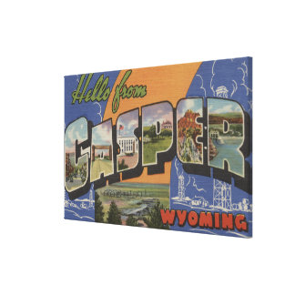 Casper, Wyoming - Large Letter Scenes Canvas Print