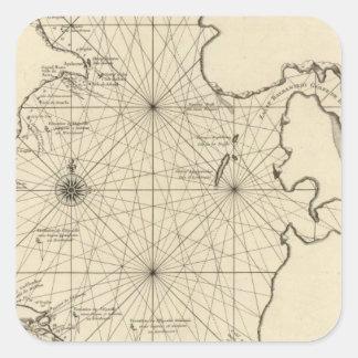 Caspian Sea and Asia Square Sticker