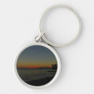 CASR Cityscape at Sunrise Silver-Colored Round Key Ring