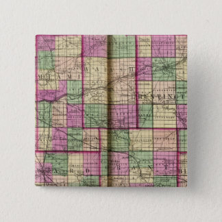 Cass County and Miami County 15 Cm Square Badge