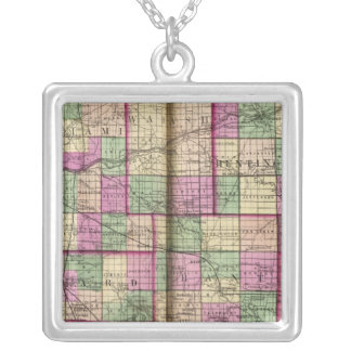 Cass County and Miami County Silver Plated Necklace
