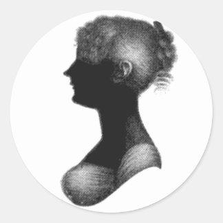 Cassandra Austen's Silhouette Round Sticker