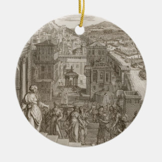Cassandra Foretells the Trojans Their Fate and is Christmas Ornament