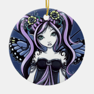 """Cassandra"" Gothic Tattoo Flower Fairy Ornament"