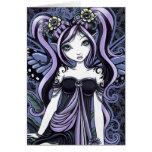 """""""Cassandra"""" Violet Butterfly Fairy Art Card"""