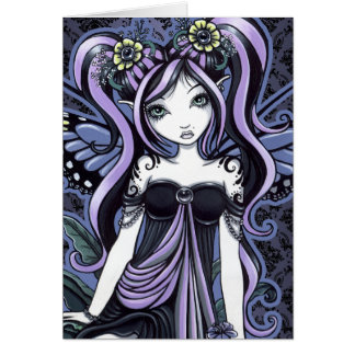 """Cassandra"" Violet Butterfly Fairy Art Card"