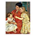 Cassatt: Mother and Sara Admiring the Baby Postcard