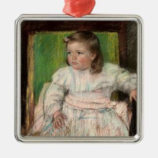 Cassatt: The Pink Sash Christmas Ornament