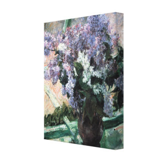 "Cassatt's ""Lilacs in a Window"" Stretched Canvas Prints"