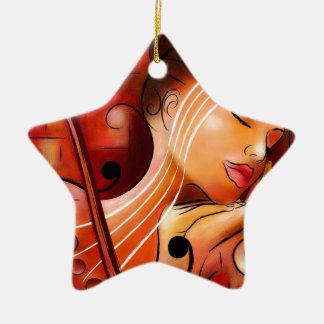 Casselopia - Violin dream Christmas Ornament