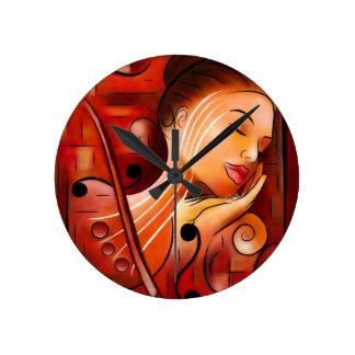 Casselopia - Violin dream Round Clock