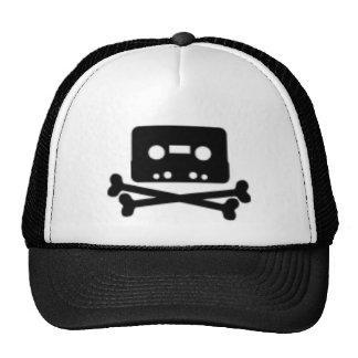 Cassette and Cross Bones Trucker Hat