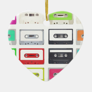Cassette Ceramic Heart Decoration