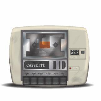 Cassette Deck Photo Sculpture Badge