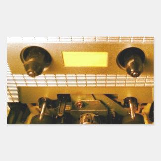 Cassette Deck Rectangular Sticker