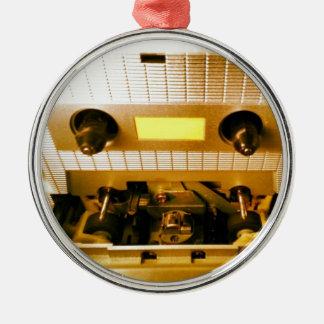 Cassette Deck Silver-Colored Round Decoration