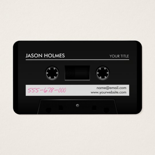 Cassette Mix Tape Retro Cool business card