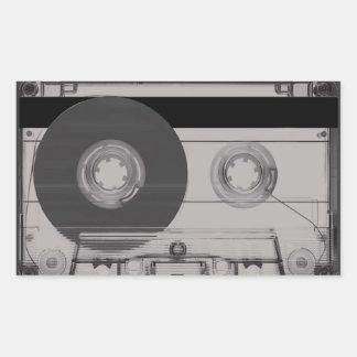 Cassette Rectangular Sticker
