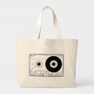 cassette retro graphic vintage t-shirt casette large tote bag