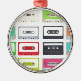 Cassette Silver-Colored Round Decoration