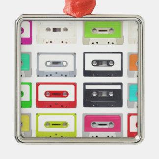Cassette Silver-Colored Square Decoration