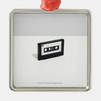 Cassette Tape 2 Silver-Colored Square Decoration