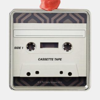 Cassette Tape 3 Silver-Colored Square Decoration