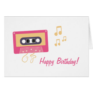 Cassette Tape Birthday Greeting Card