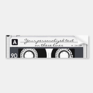 Cassette tape - black - bumper sticker