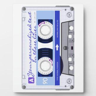 Cassette tape - blue - plaque