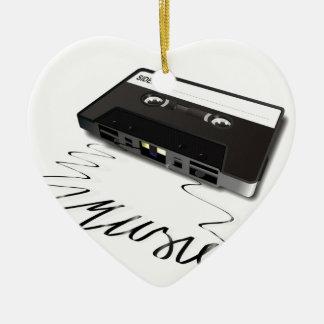 Cassette Tape Ceramic Heart Decoration