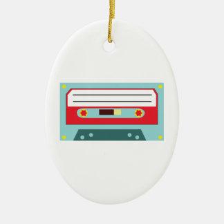 Cassette Tape Ceramic Oval Decoration