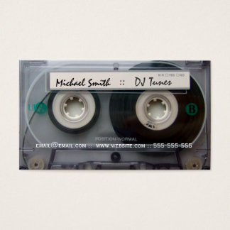 Cassette Tape DJ Business Cards