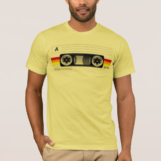 Cassette tape label t-shirt