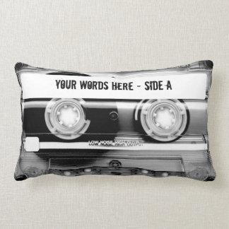 Cassette Tape Mixtape (personalised) Lumbar Cushion