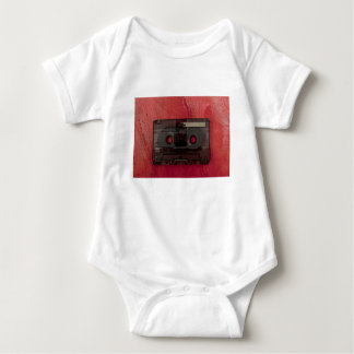 Cassette tape music vintage red baby bodysuit