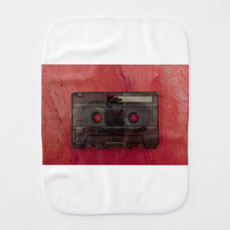 Cassette tape music vintage red burp cloth