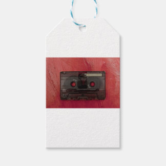 Cassette tape music vintage red gift tags