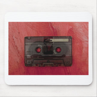 Cassette tape music vintage red mouse mat