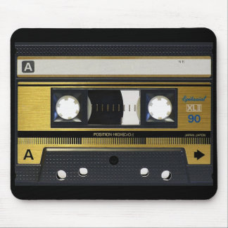 Cassette Tape Old School Retro Design Mouse Pad