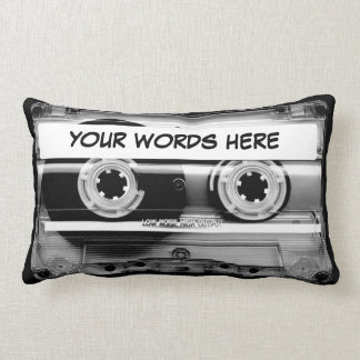 Cassette Tape Personalised Lumbar Cushion